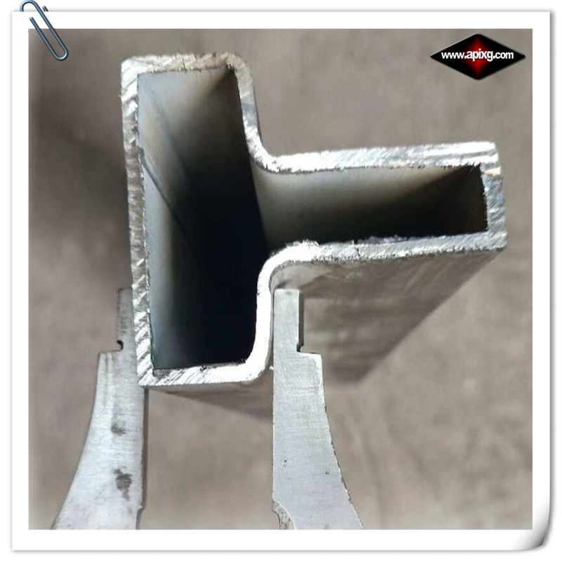 shaped steel pipe convex shape